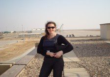 Cath Bishop in afghanistan